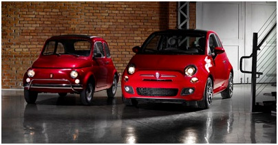 The old and new Fiat 500