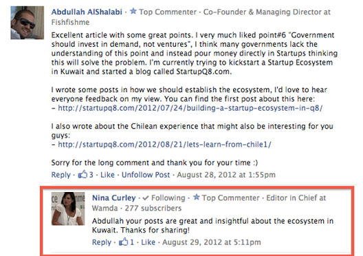 My comment